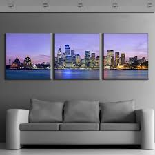 home decor shops sydney discount 3 pcs set framed purple landscape the night of sydney