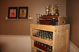 using pallets to build a canning pantry cupboard an inexpensive