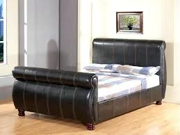 Black Leather Sleigh Bed Leather Sleigh Bed King Elkar Club