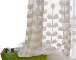 Patterned Sheer Curtains Custom Sheer Panels Etsy