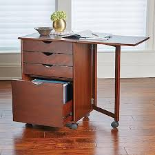 home office rolling portable storage filing cabinet with computer