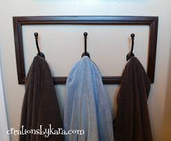 diy project bathroom towel hooks creations by kara