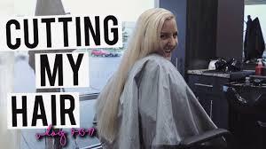 chopping my hair off new short haircut vlog 2017