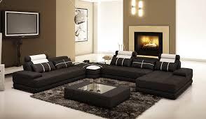 déco canapé noir deco in canape d angle cuir noir et blanc design alix alix
