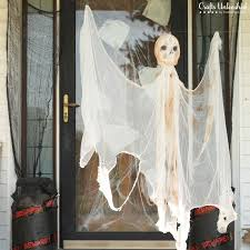 Diy Halloween Decor Diy Outdoor Halloween Decorations Hanging Mummy Ghost