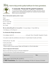 pledge donation form pacqco gift job sheets template