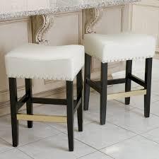 Cream Leather Bar Stools Decoration White Faux Leather Chrome Base Hispellum Bar Stool From