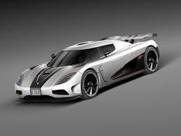 koenigsegg agera rs white car sport r c4d