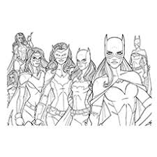 10 beautiful free printable batgirl coloring pages