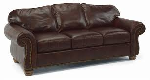 Flexsteel Leather Sofa Flexsteel Bexley Traditional Sofa With Nail Trim Wayside