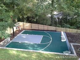 Backyard Tennis Court Cost Backyard Basketball Court With Rebounder U0026 Hockey Net Jr