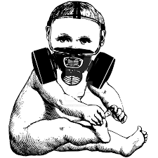 baby in a gas mask by apoplecticpress on deviantart