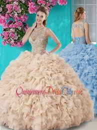 unique quinceanera dresses gorgeous see through beaded scoop unique quinceanera dress in