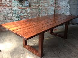 wooden dining room tables furniture extraordinary custom solid mesquite slab dining table