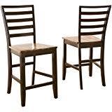 amazon com steve silver company mango counter bench kitchen u0026 dining