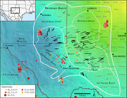 Stanford Maps Seismic Stress Map Profiles Induced Earthquake Risk For West Texas