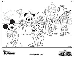 mickey mouse clubhouse halloween coloring pages getcoloringpages com