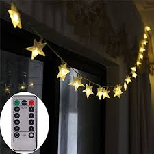 battery led string lights remote timer battery operated christmas star led string lights 5