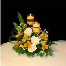 centerpieces candles wedding reception flowers the wedding