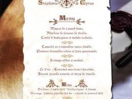 idee menu mariage idee menu en parchemin par chezsandrine