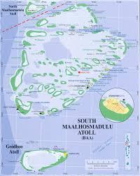 Map Of Maldives Map Of The Baa Atoll Maldives Southern Maalhosmadulu Atoll