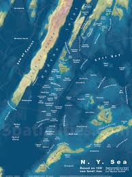 New York City On A Map by The Ny Sea Spatialities