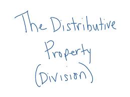the distributive property division math showme
