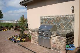 Outdoor Kitchen Backsplash by Outdoor Living Outdoor Kitchens Fireplaces Fire Pits Stonework