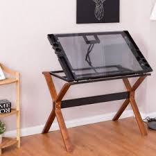 top drafting table adjustable art craft hobby glass top drawing desk drafting table