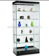 lockable glass display cabinet showcase glass display cabinet art deco walnut veneer glass display cabinet