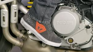 street bike boots for mens dainese street biker air shoes review at revzilla com youtube
