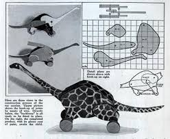 Free Plans Wood Toys by The Automata Blog Galloping Dinosaur Vintage Mechanical Toy Plans