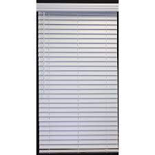 2 Inch White Faux Wood Blinds Shop A R 2 In Cordless White Faux Wood Room Darkening Plantation