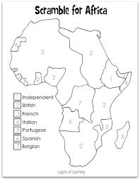 Ap World History Regions Map by The European Colonization Of Africa Happened Late In World History