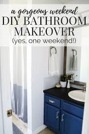 weekend bathroom makeover reveal