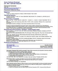 Software Developer Resume Examples by Sample Software Developer Resume 9 Examples In Word Pdf