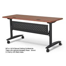 Folding Conference Tables Deluxe Folding Conference Table Black W Cherry Ultimate Office