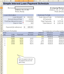 Excel Payment Calculator Template Loan Amortization Schedule And Calculator