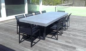 pottery barn concrete table abbott round dining table pottery barn inside concrete outdoor plans
