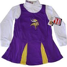 Cheerleading Halloween Costumes Kids Amazon Minnesota Vikings Nfl Long Sleeve Cheerleader