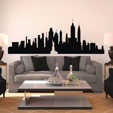 popular new york city skyline mural buy cheap new york city new york city skyline silhouette the big apple wall sticker nyc vinyl wall decal art home