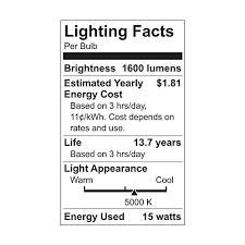 ge lighting 63869 led brightstik 15 watt 100 watt replacement