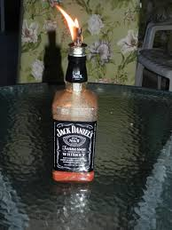 jack daniels home decor liquor bottle tiki torch diy crafts pinterest liquor