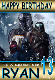 destiny gamer personalised birthday card 2 any name age great