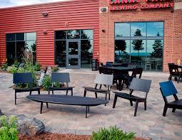 contemporary coffee table polyethylene oval garden bolinas