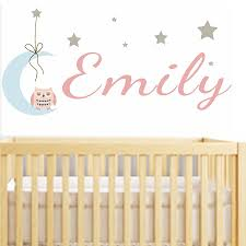 Nursery Name Wall Decals by Baby Name Wall Stickers