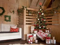 Small Table Christmas Decoration by Beautiful Christmas Decorating Cabin Style Using Pine Tree