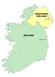 Blank Map Of Ireland by Simple Ireland Map Clip Art At Clker Com Vector Clip Art Online