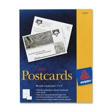 avery 5389 laser postcards 4
