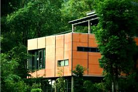 home design company in thailand modern home fuses traditional thai architecture with green
